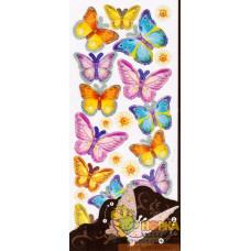 """Объемные наклейки """"Весенние бабочки"""""""