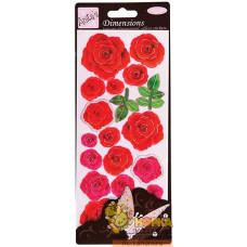 """Объемные наклейки """"Красные розы"""""""