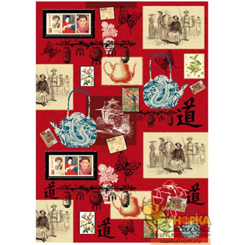 "Декупажная карта ""Древний Китай"""