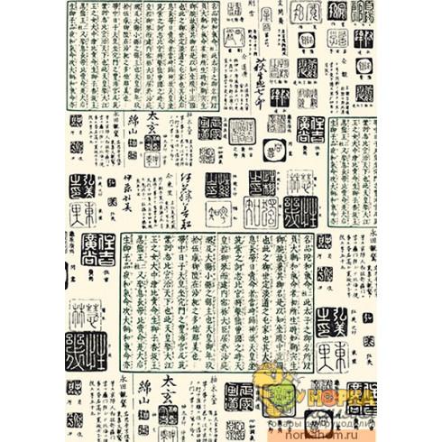 """Декупажная карта """"Китайские иероглифы"""""""