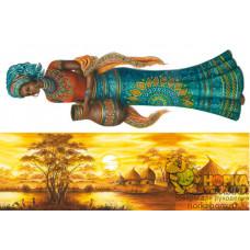 """Рисовая декупажная карта """"Африка"""""""