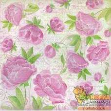 """Рисовая салфетка для декупажа """"Розовые цветы"""""""