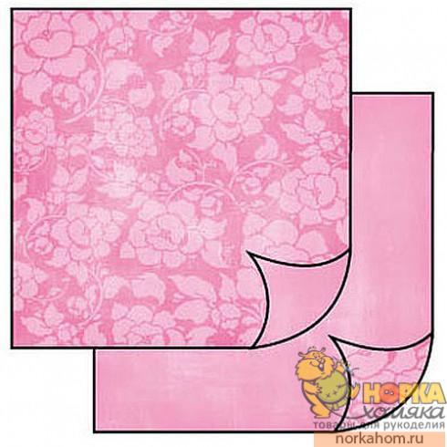 """Бумага для скрапбукинга """"Розовые розы"""""""