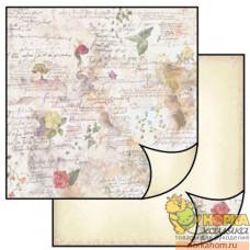 """Бумага для скрапбукинга """"Цветы и стихи"""""""