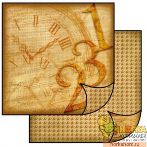 "Бумага для скрапбукинга ""Старинные часы"""