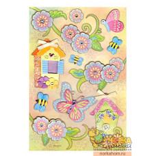 """3D наклейки """"Бабочки в саду"""""""