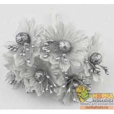 Букет серебряных цветов I