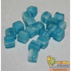 Стеклянные бусины 1007-141MX (голубые тона)
