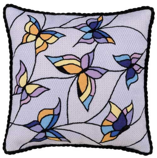 "Подушка/панно ""Витраж. Бабочки"""