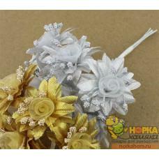 Букет серебряных цветов II