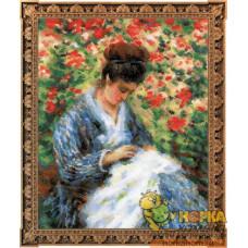 Мадам Моне за вышивкой