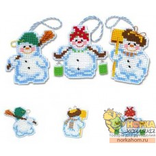 Новогодние игрушки «Снеговички»