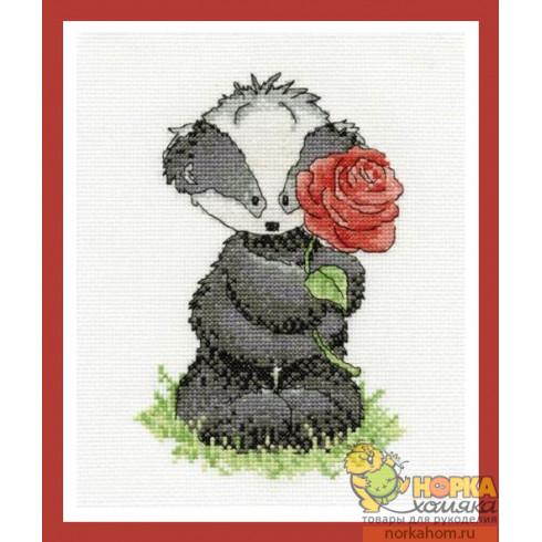 Bert Badger with a Rose