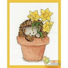 Frankie Hedgehog with Daffodils