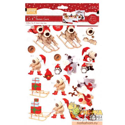 """Набор для создания 2 открыткок """"С Рождеством"""""""