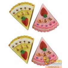 "Декоративные фигурки ""Кусочки торта. Ваниль, роза"""