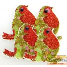 """3D стикеры """"Рождественские птички"""""""