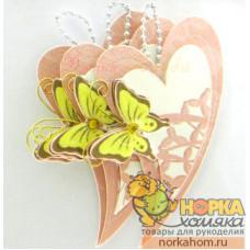 """3D стикеры """"Сердца и бабочки"""""""