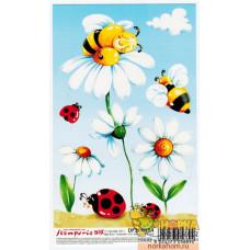 """Бумага для 3D декупажа """"Ромашки и пчелки"""""""
