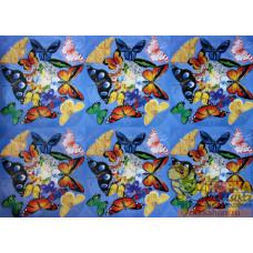 """Декупажная карта """"Абстракция с бабочками"""""""
