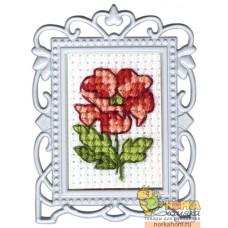 Красный цветок 2 (с рамкой)