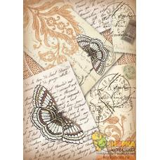 """Войлочное полотно """"Письма и бабочки"""""""