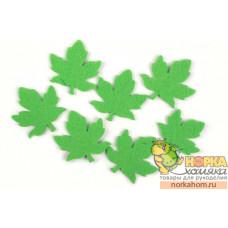 """Форма из фельта """"Зеленый кленовый лист"""""""