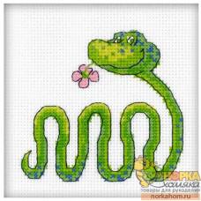 Змейка с цветком