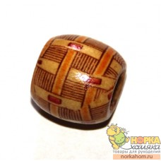 Бусина деревянная (бамбук)