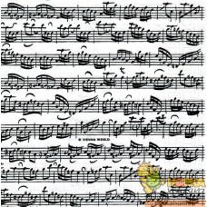 "Салфетка для декупажа ""Моцарт. Ноты на белом"""