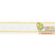 Канва-лента Аида 14 (желтый кант)