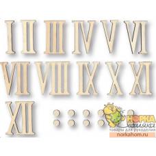 Набор римских цифр для часов