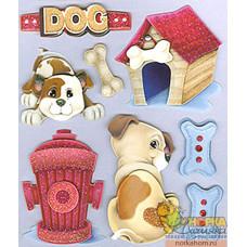 """3D наклейки """"Любимый щеночек"""""""