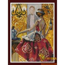 Эффектные женщины в роскошных местах. Красное платье