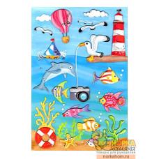 """3D наклейки """"Морской мир"""""""