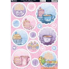 """Вырубные аппликации """"Couture Cafe - High Tea - Pink"""""""