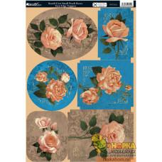 """Вырубные аппликации """"Карликовые персиковые розы"""""""
