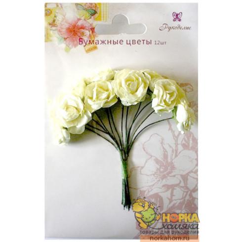 """Бумажные цветы """"Желтые розы"""""""