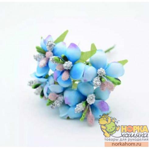 Букет лютиков (голубой)