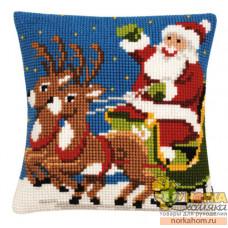 "Подушка ""Санта на санях"""