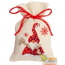 "Мешочек ""Санта с шарфом"""