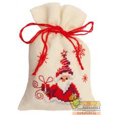 "Мешочек ""Санта с подарком"""
