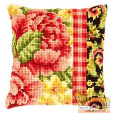 "Подушка ""Цветы с завитками II"""