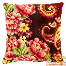 """Подушка """"Цветы с завитками III"""""""