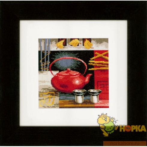 Asian Tea Ceremony - Red Teapot
