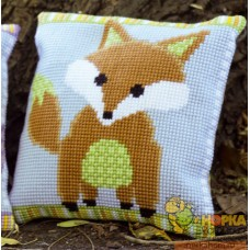 "Подушка ""Brown and Green Fox"""