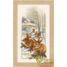 Кролики на снегу