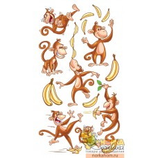 "Стикеры ""Dancing Monkeys"""