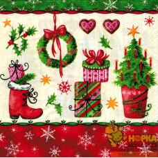 "Салфетка для декупажа ""Нарядное Рождество"""