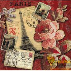 """Салфетка для декупажа """"Воспоминание о Париже"""""""